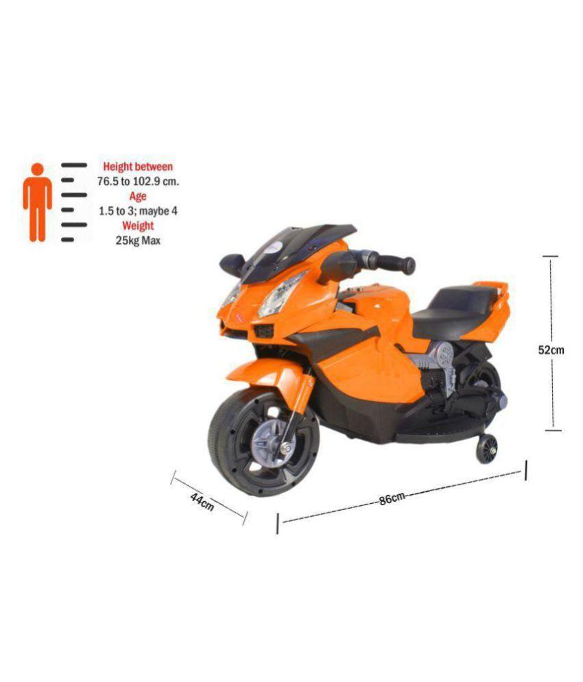 0299f26141e ... Orange Toyhouse Mini Lamborghini Style Superbike Rechargeable battery  operated Ride-on for kids, ...
