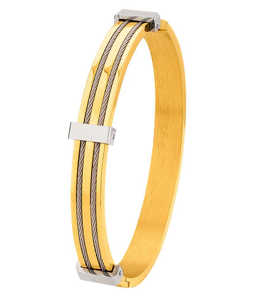 Dare by Voylla Dual Plated Cuff Style Bracelet