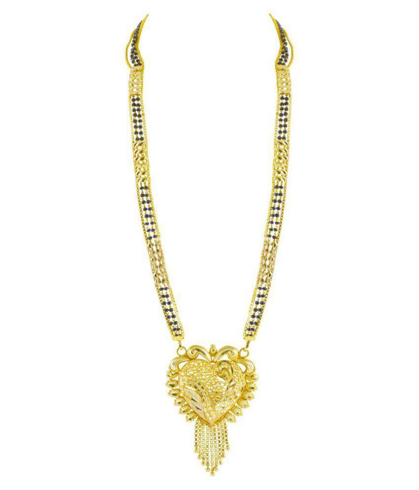Rejewel Outstanding Heart Shape Mangalsutra Pendant
