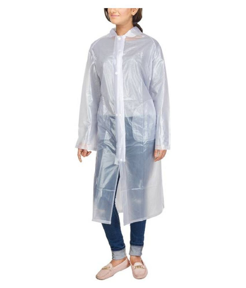 ZAINEE CLOTHING Polyester Long Raincoat - Multi Color