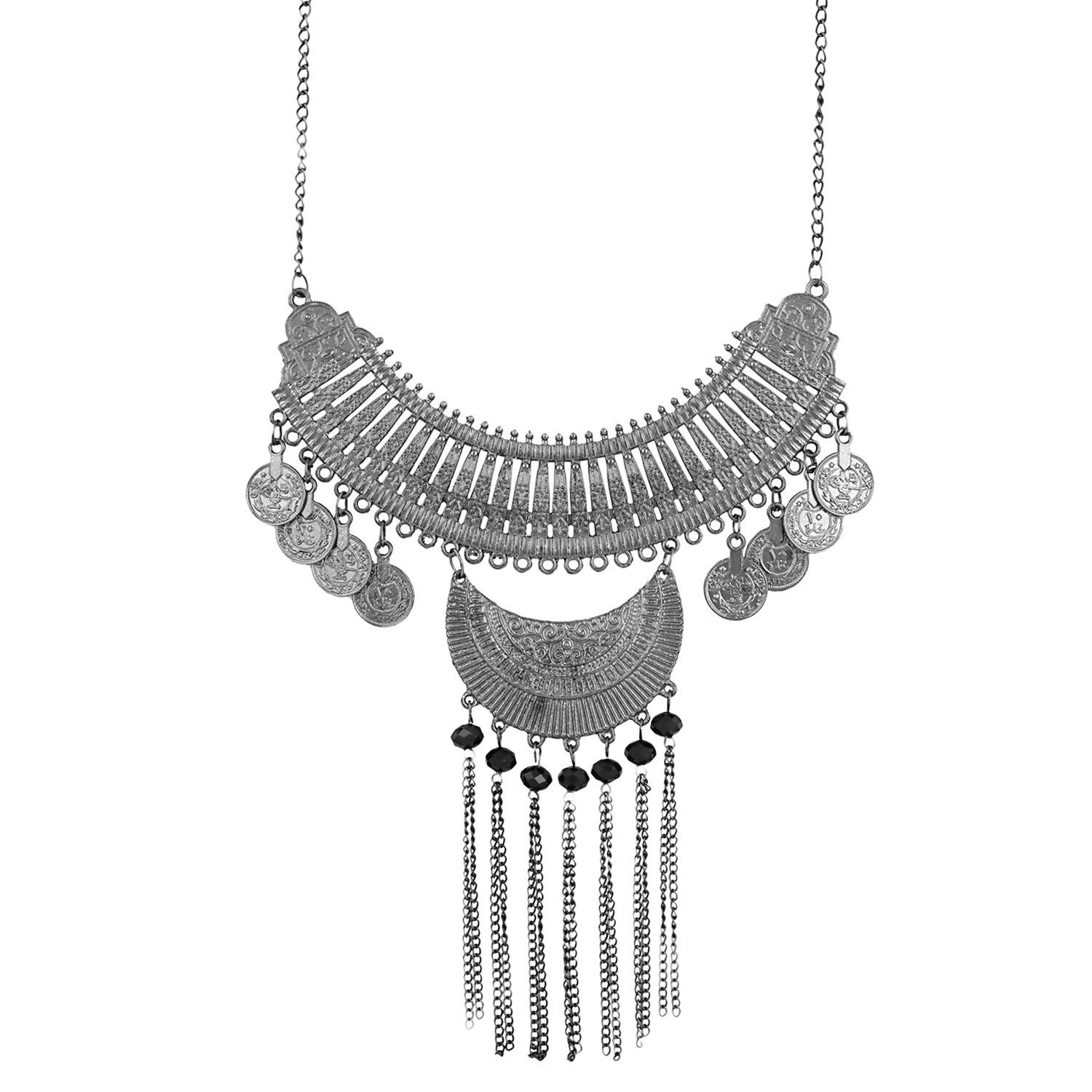 0e3060abc Andaaz Designer Tribal Fashion Oxidized Silver Necklace for Girls - Buy  Andaaz Designer Tribal Fashion Oxidized Silver Necklace for Girls Online at  Best ...