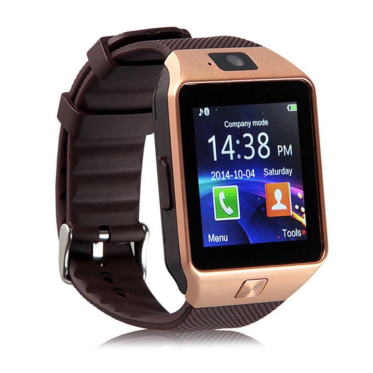 Bastex Smartwatch Suited Xolo Era 4K Dz09 Golden Smart Watches