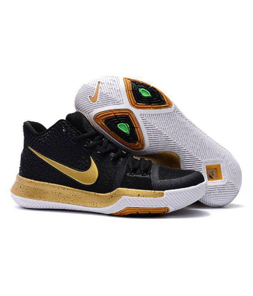 uk availability 189b6 bec3f Nike Kyrie 3 Irving Black Basketball Shoes - Buy Nike Kyrie 3 Irving Black  Basketball Shoes Online at Best Prices in India on Snapdeal