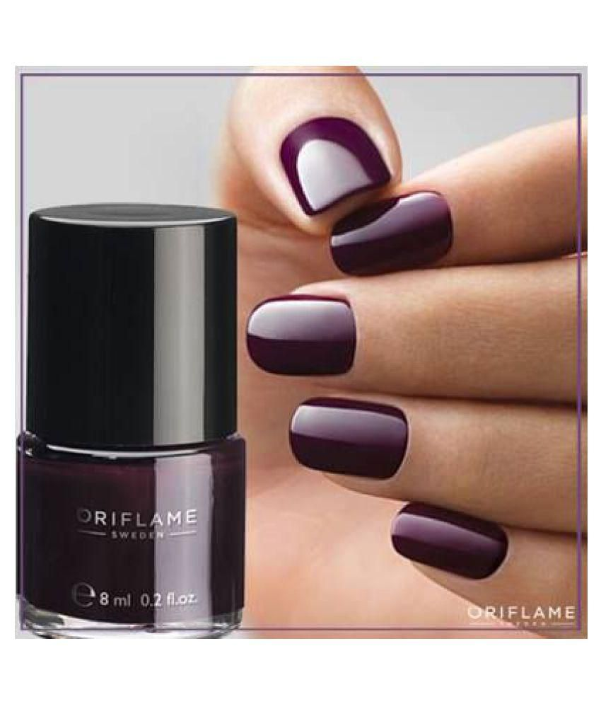 Oriflame Pure Colour Nail Polish 30802 Burgundy Wine Matte 6 ml: Buy ...