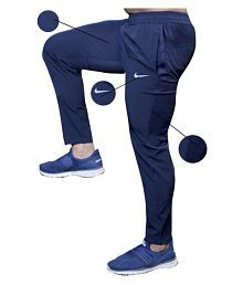 Nike Blue Lycra Dry fit Trackpant
