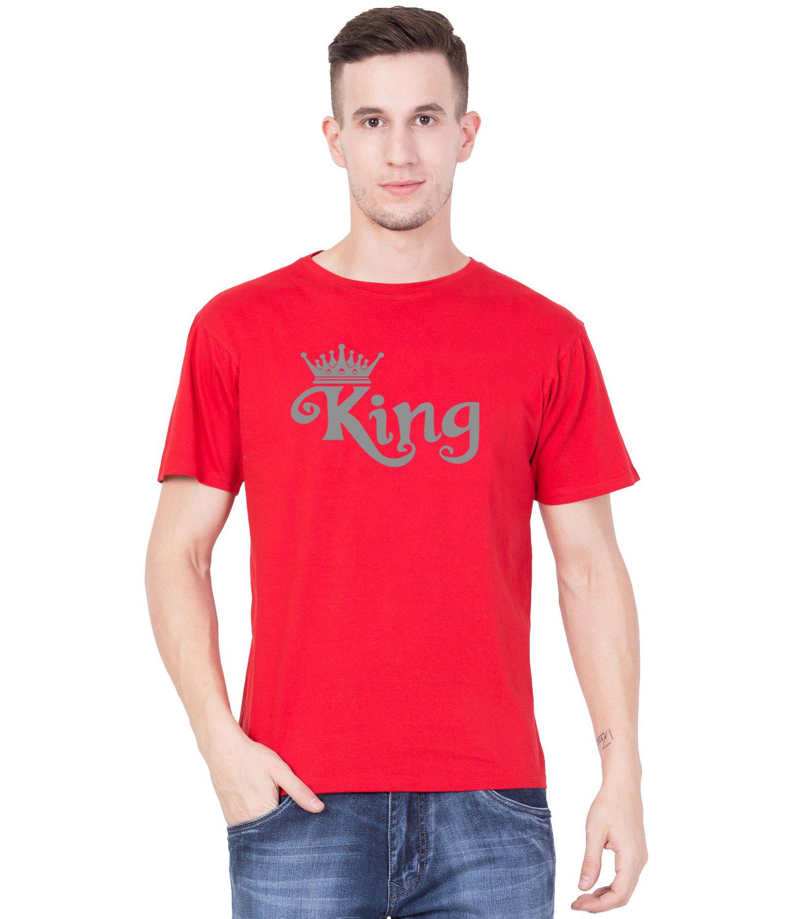 American-Elm Red Round T-Shirt Pack of 1