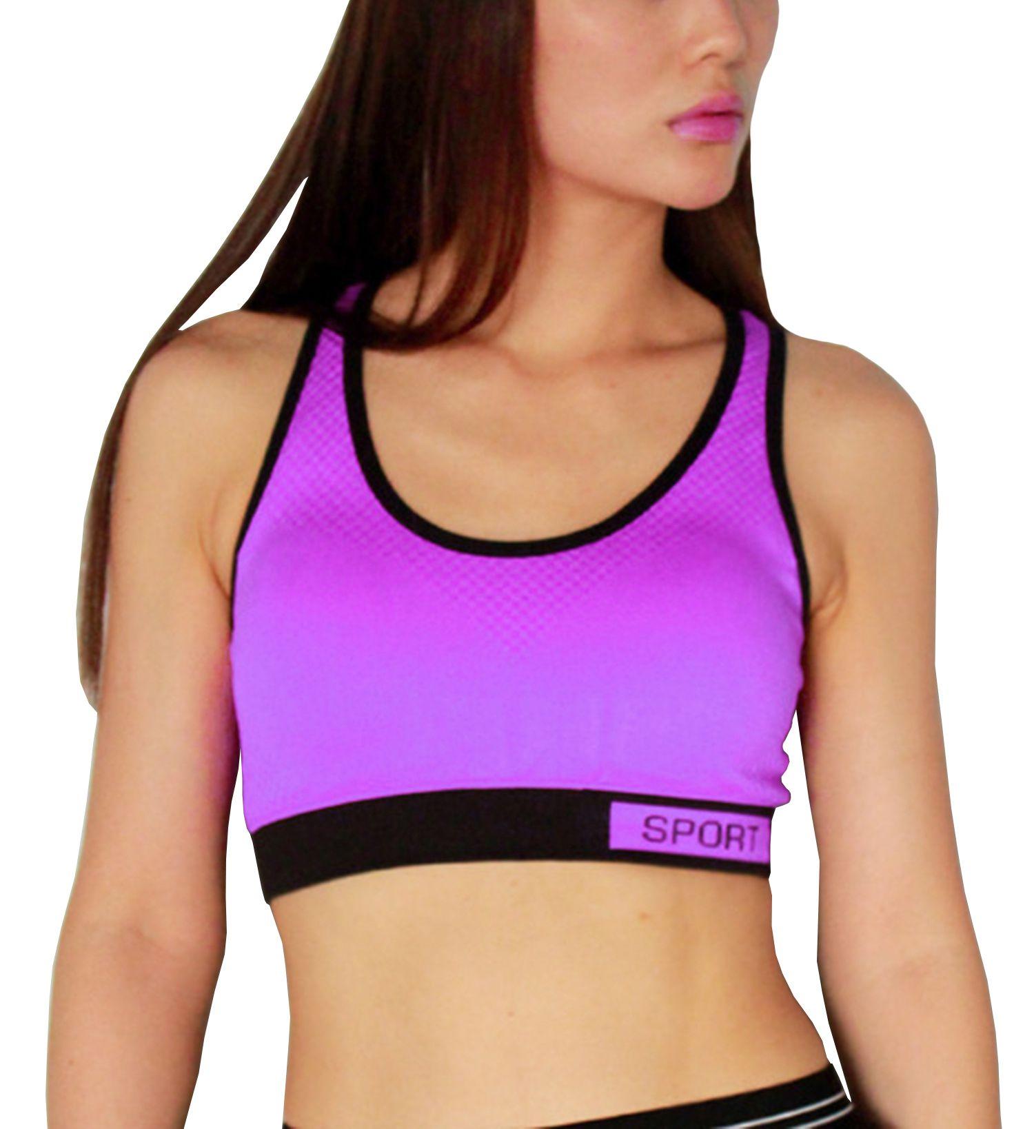 kjk cos Polyester Sports Bra - Purple