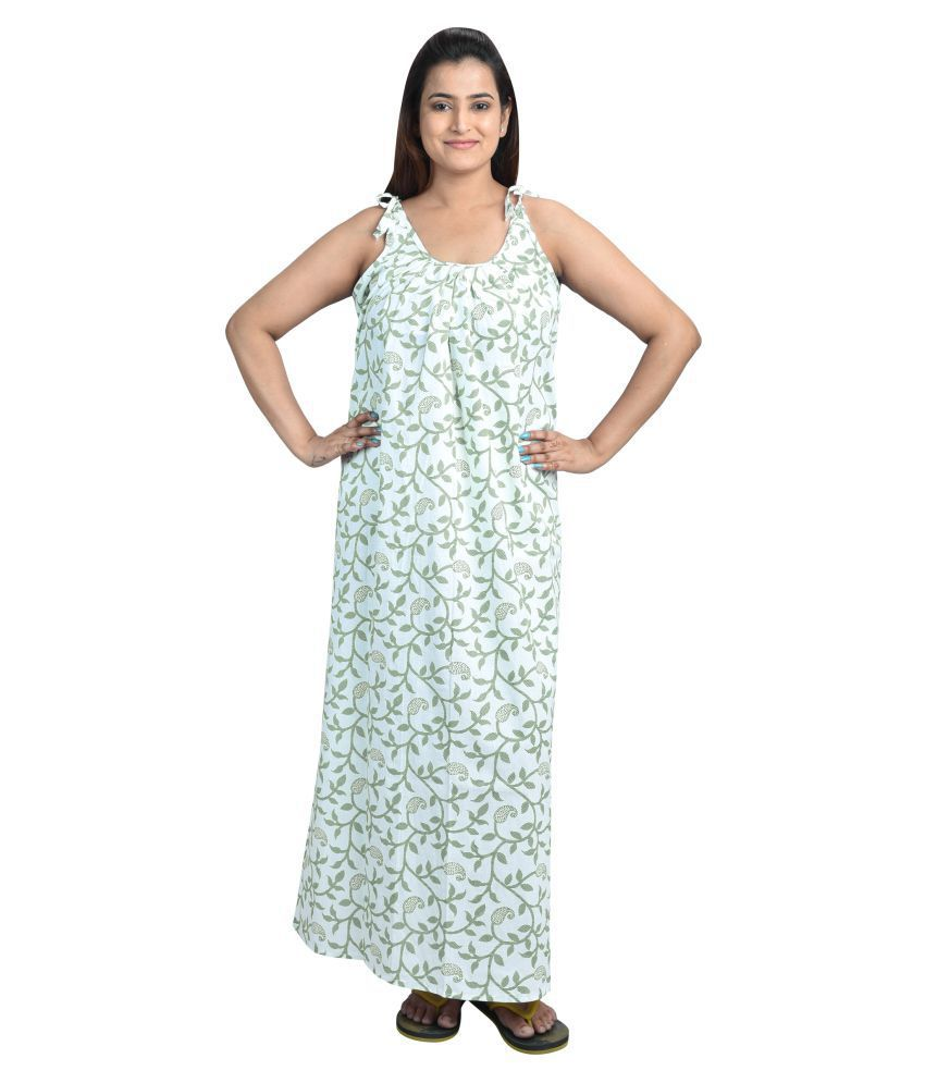 2b844c08dc Buy Piyali s Creation Women s Cotton Nighty   Night Gowns - Multi Color  Online at Best Prices in India - Snapdeal