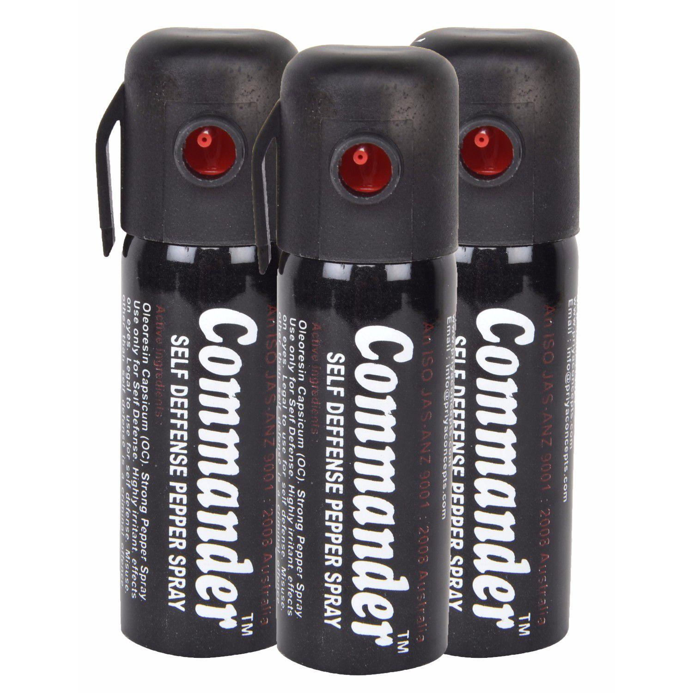 Commander Self Defence Women Safety upto 10 Feet Range Pepper Spray Pack of 3