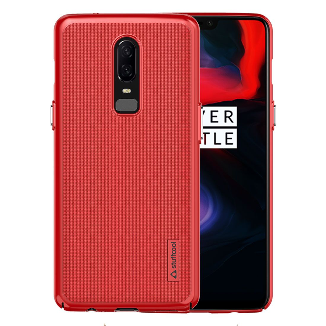 best service 97a6f 2dad9 OnePlus 6 Plain Cases STUFFCOOL - Red