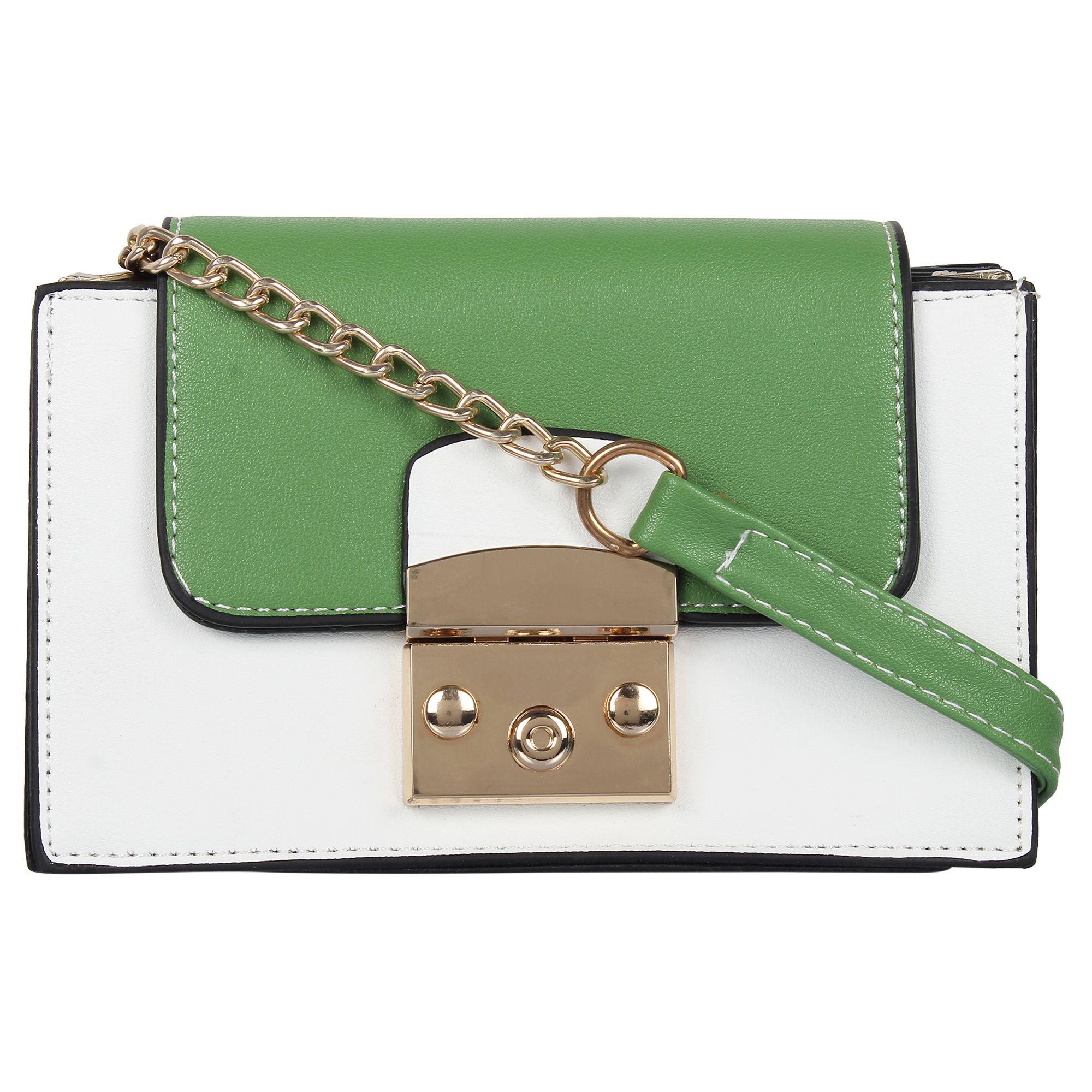 Fashion Fanda Green Faux Leather Handheld