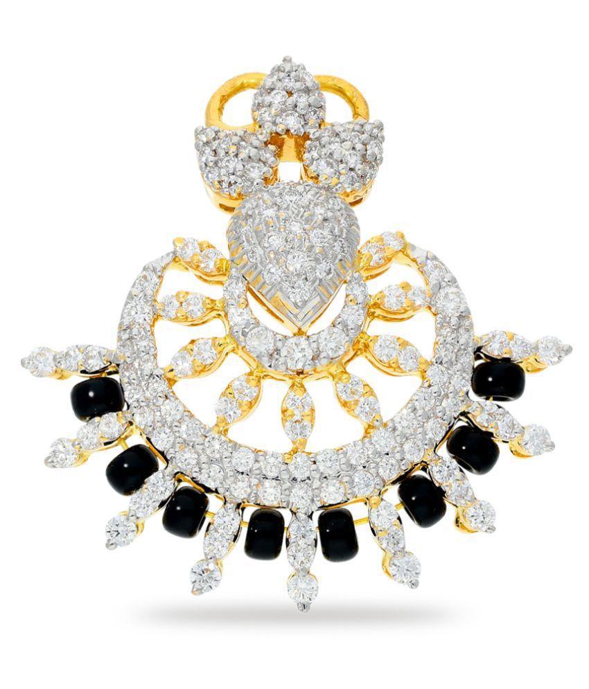 JEWELROOF 18k Yellow Gold Diamond Mangalsutra