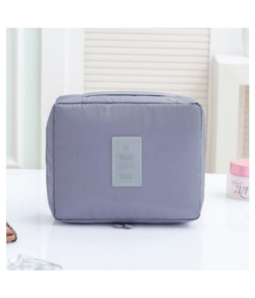 Kanha Grey Multi Pouch Cosmetic Makeup Bag