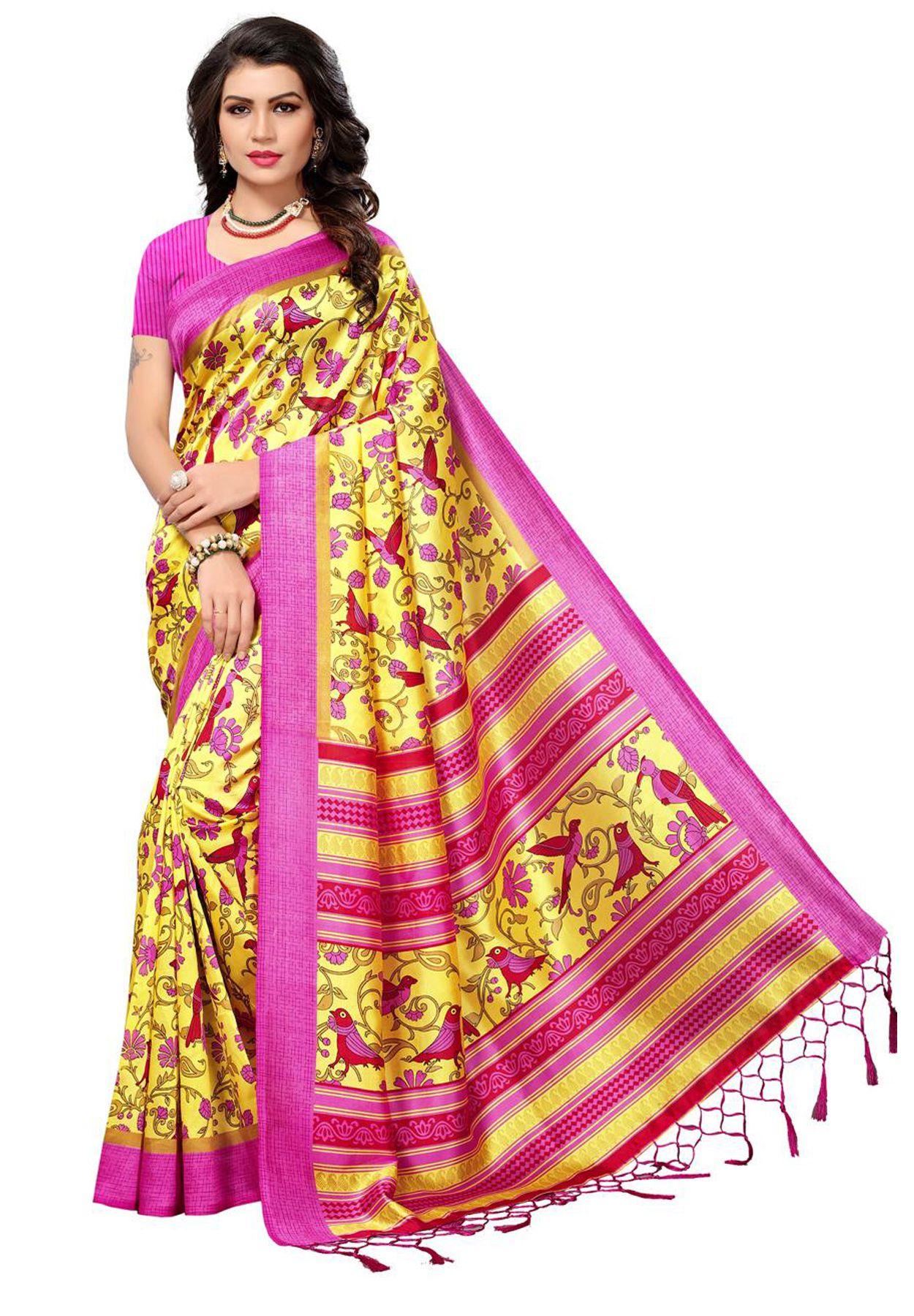 Salwar Studio Multicoloured Silk Saree