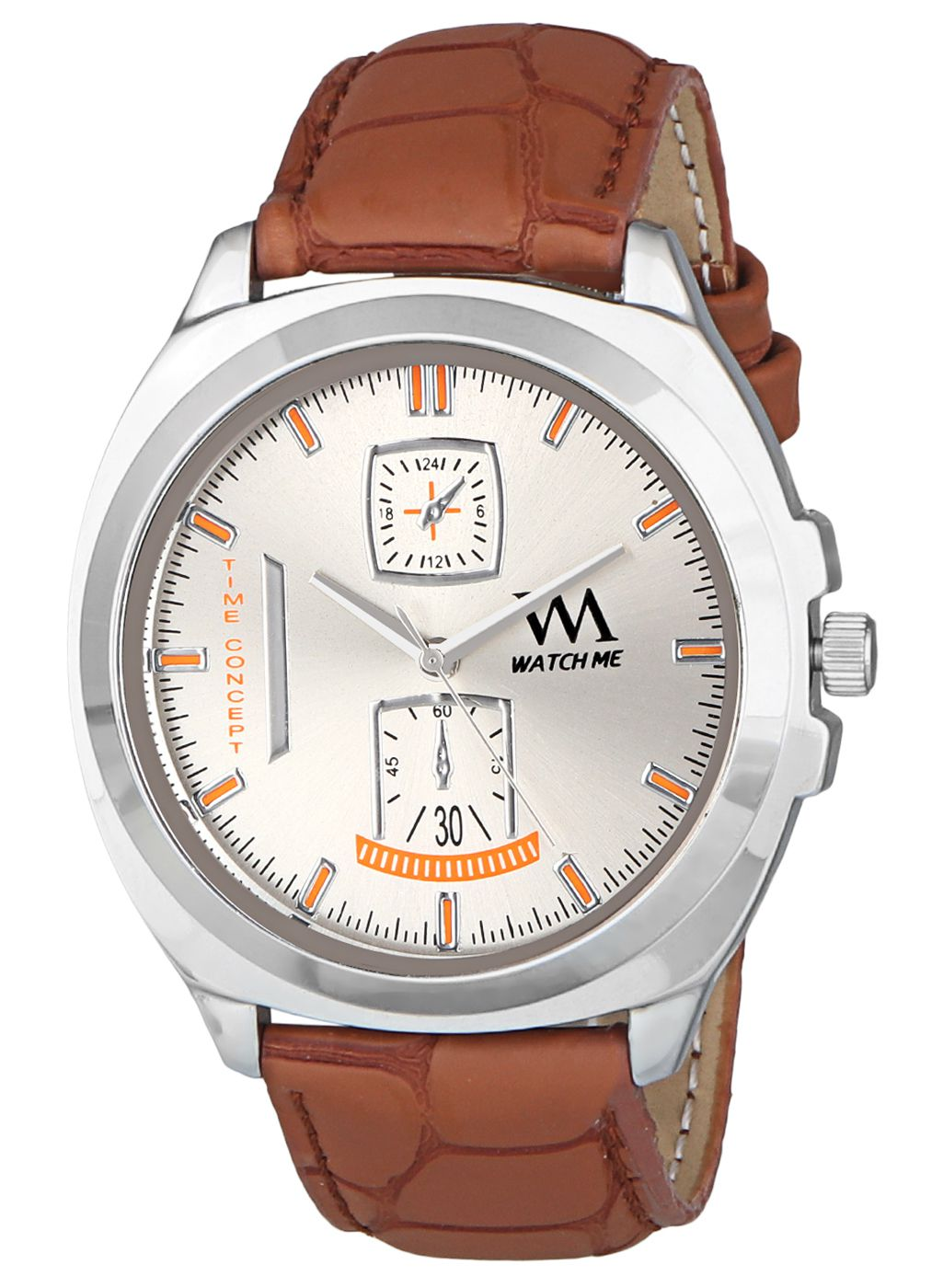 Watch Me WMAL 328 Leather Analog
