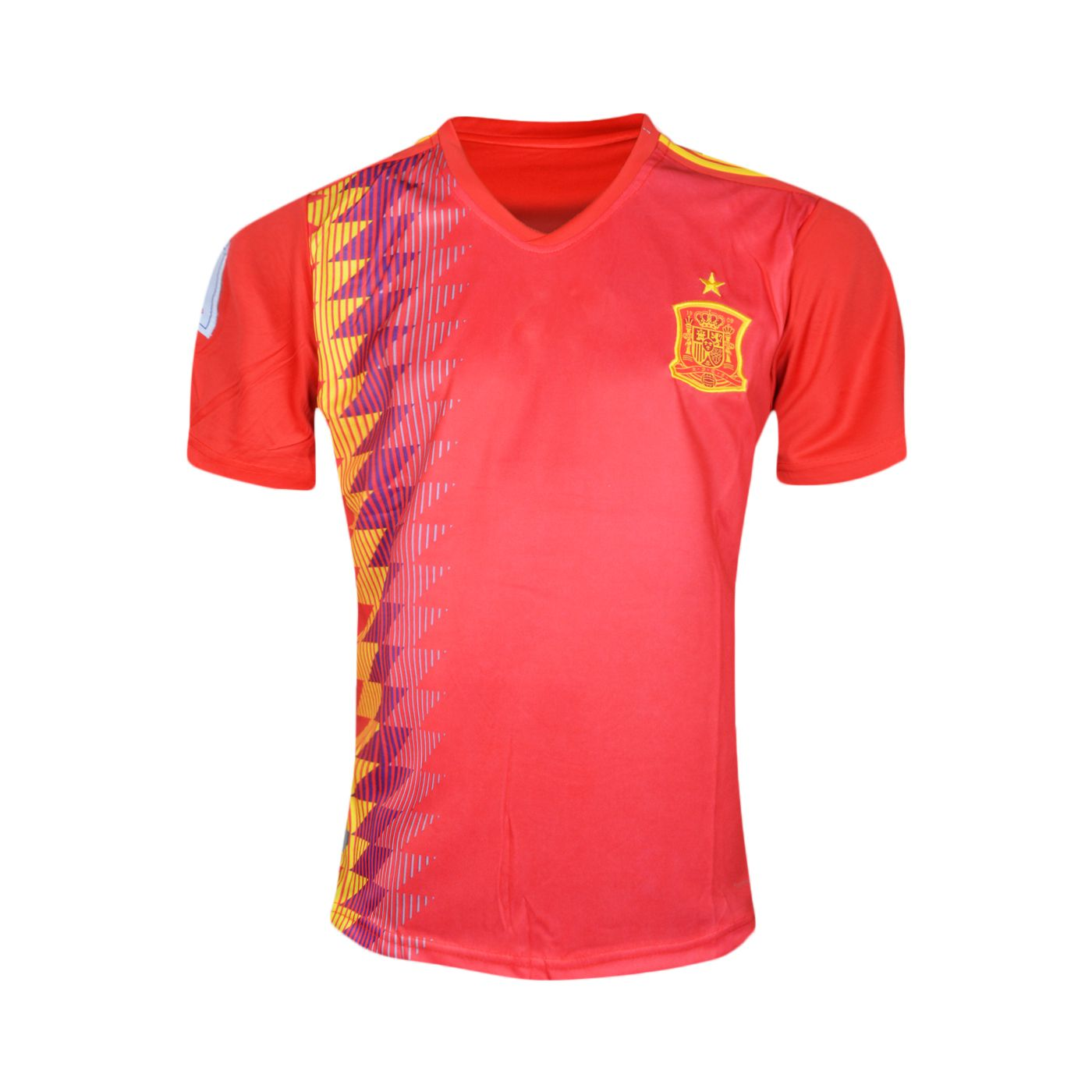 0cde4fef693 FIFA World Cup Spain National Team Home Red Football Jersey  Buy ...