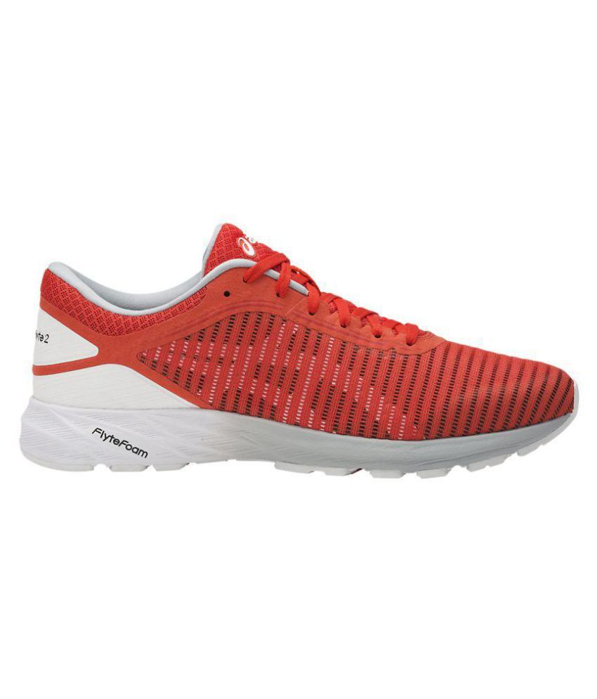 a0f254ab003 Asics DYNAFLYTE 2 Red Running Shoes