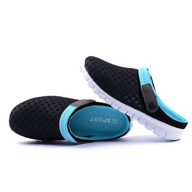 46374cc58feb92 ... 2018 Summer Tennis Shoes Male Ventilative Sandals Trend Of Men'S Casual  Shoes Slippers ...