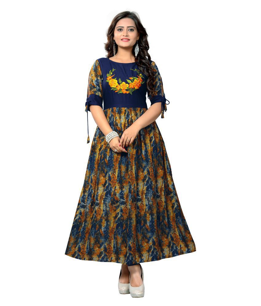 e847487a72878 Vbuyz Multicoloured Rayon A-line Kurti - Buy Vbuyz Multicoloured Rayon  A-line Kurti Online at Best Prices in India on Snapdeal