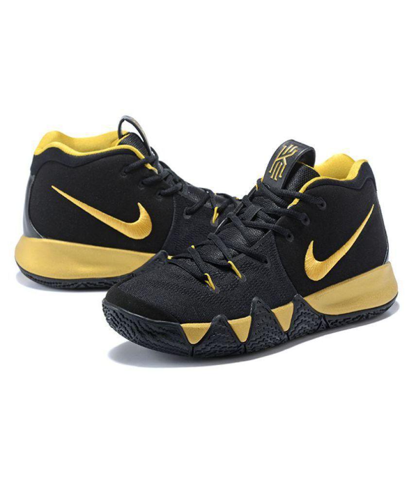 info for e24b5 9db70 Nike KYRIE 4 Black Basketball Shoes