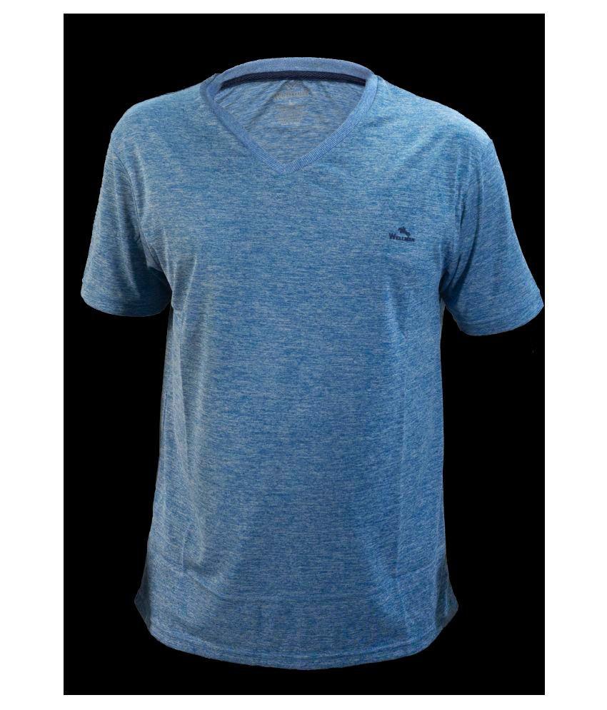 Glaring Textiles Blue Nylon T-Shirt