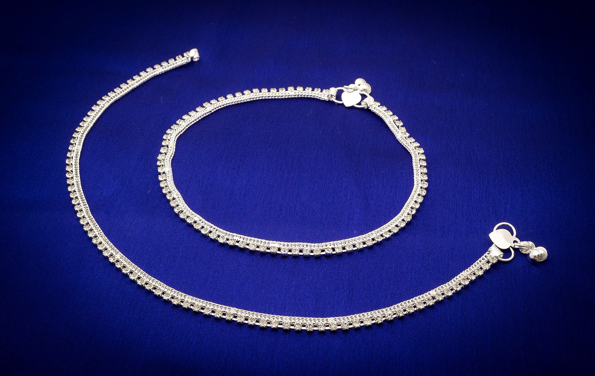 Aadita Ethnic Traditional German Oxidised Tribal Silver Plated Anklets payal for Women and Girls