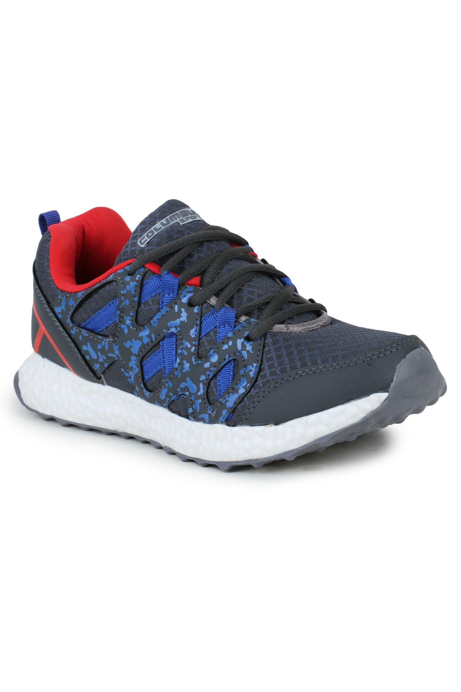 Columbus LD-0017-Grey Blue  Gray Running Shoes