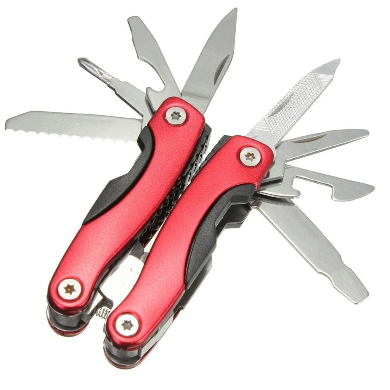 Jeeya 9 in 1 Use  amp; Fold Multi Utility Plie blue 9 Function Multi Utility Swiss Knife