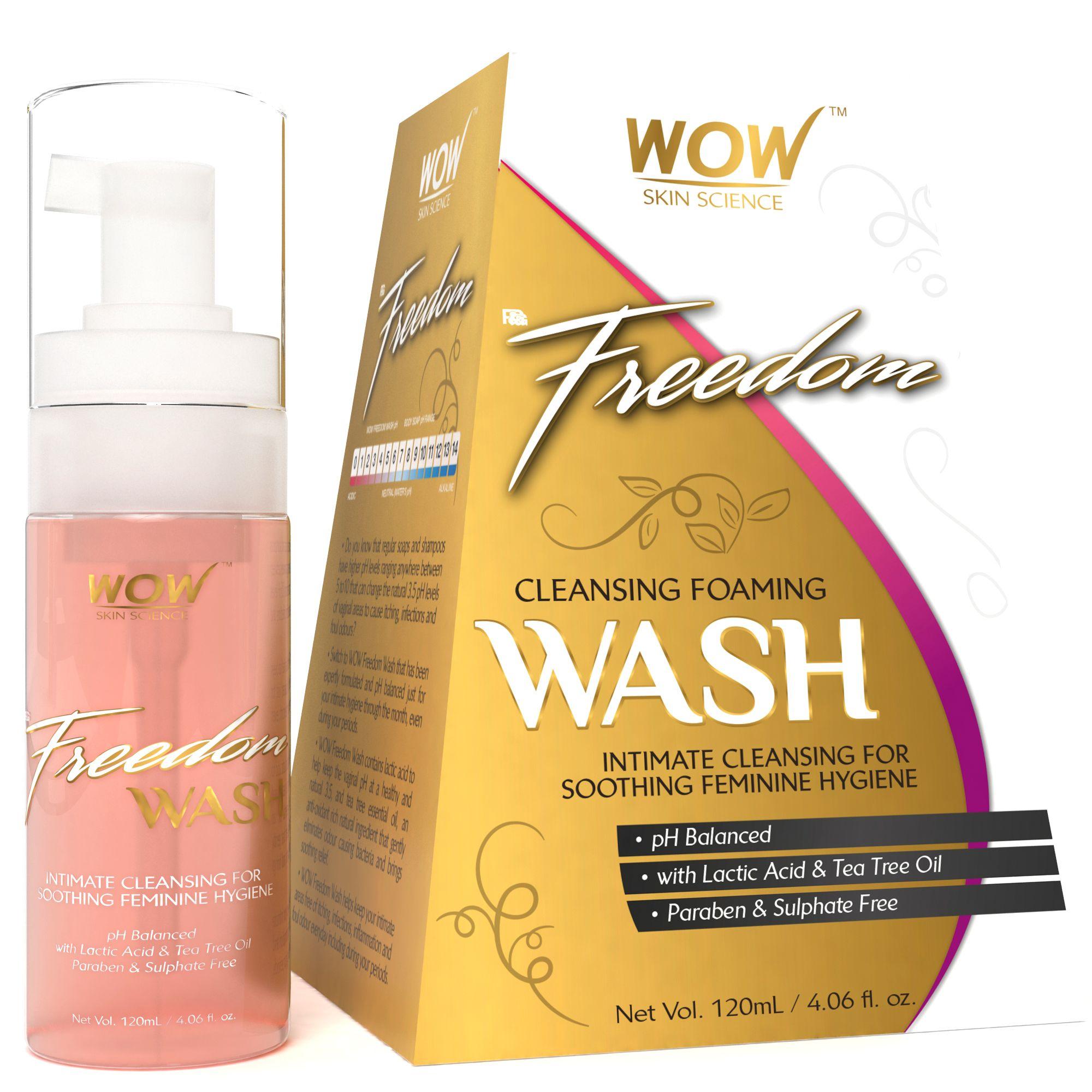 WOW Skin Science F&G Freedom Cleansing Foam Wash Intimate Cleansing Foam 120 ml