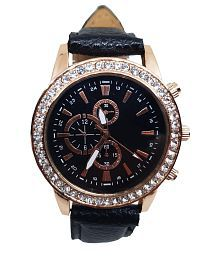 1bff337f52 Black Watches for Women: Buy Black Watches for Women Online at Low ...