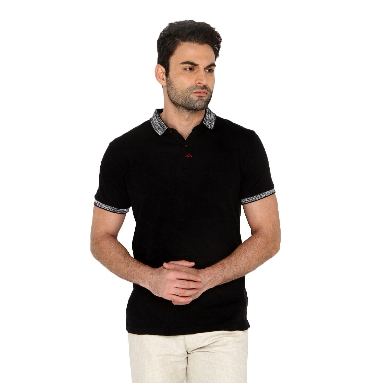 A La Mode Black Round T-Shirt Pack of 1
