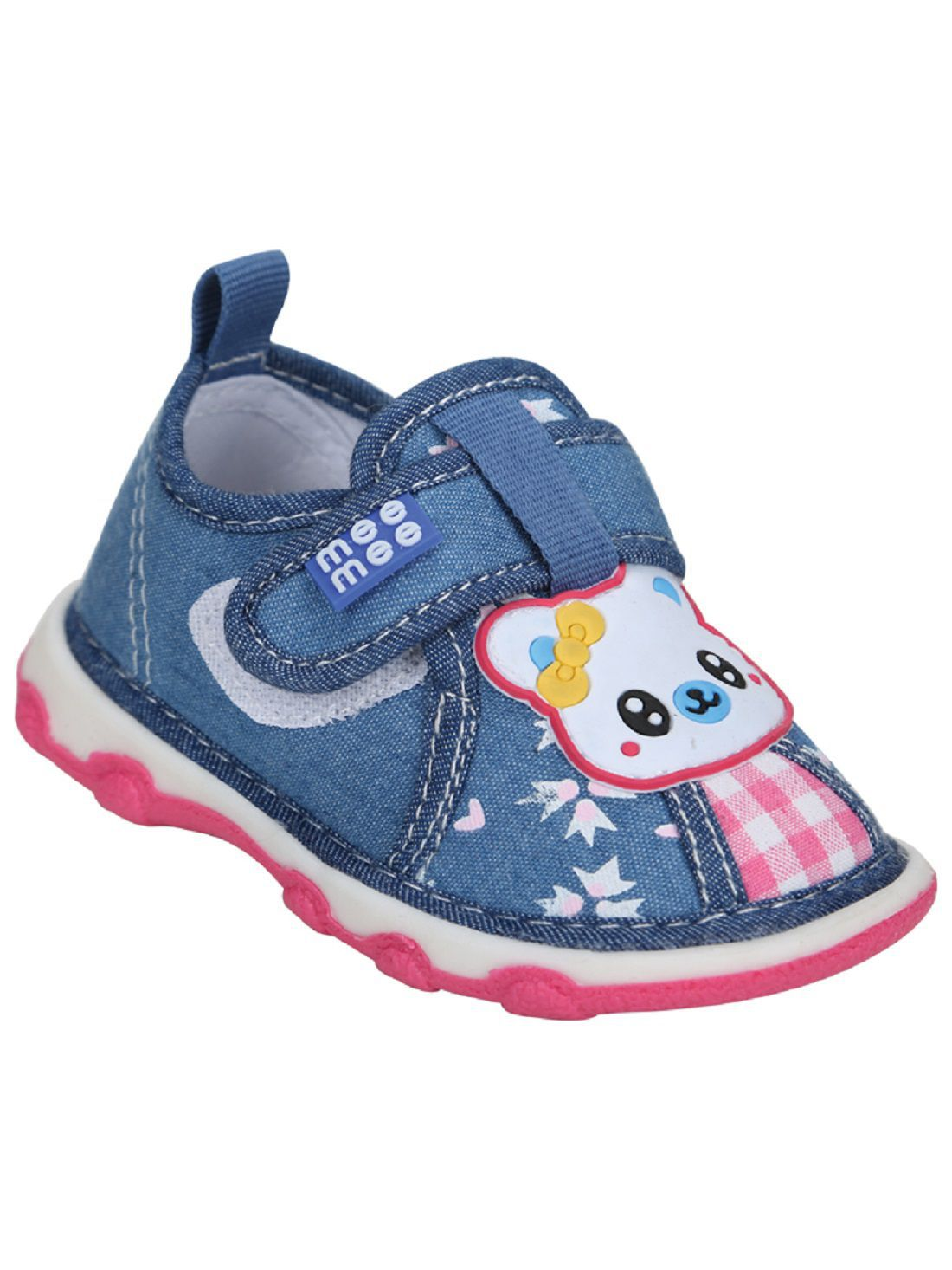 Mee Mee First Walk Baby Shoes with Chu Chu Sound (22 EU, Blue)