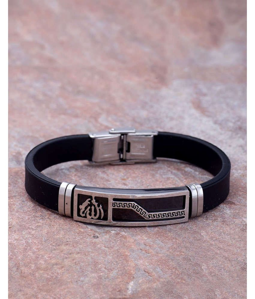Decent Rubber Band Bracelet For Men From Dare by Voylla