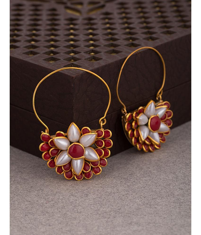 Pacchi Pearl Studded Dangler Earrings
