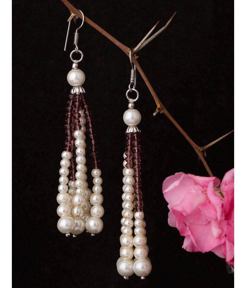 Voylla Beautiful Pearl Drop Earrings