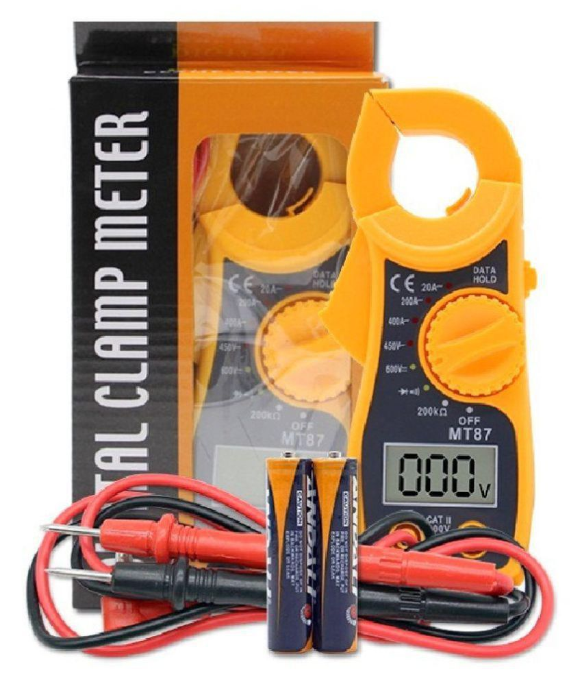 Unity MT87 Mini Clamp LCD Digital Multimeter AC/DC Voltage AC Amp Meter Dc Ac Current Tongs Resistance Ohm Tester