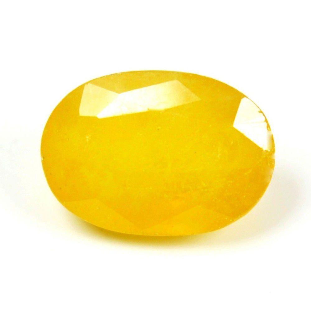 4.15 Ct Natural Heated Yellow Sapphire (Pukhraj stone) Bangkok IGL Lab Certified - Aj Retail