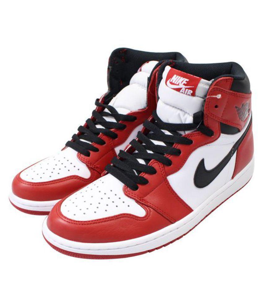 b75f403b7023 Nike Air JORDAN 1 RETRO HIGH Red Basketball Shoes - Buy Nike Air ...