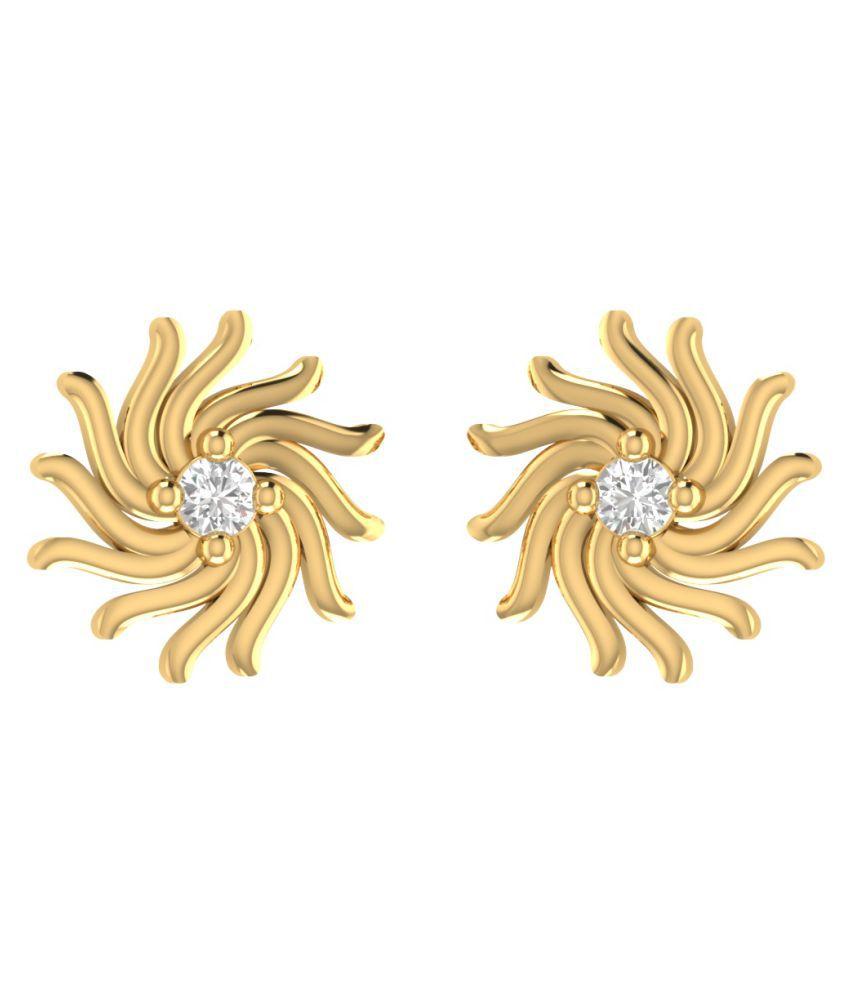 Animas Jewels 92.5 Silver Diamond Studs