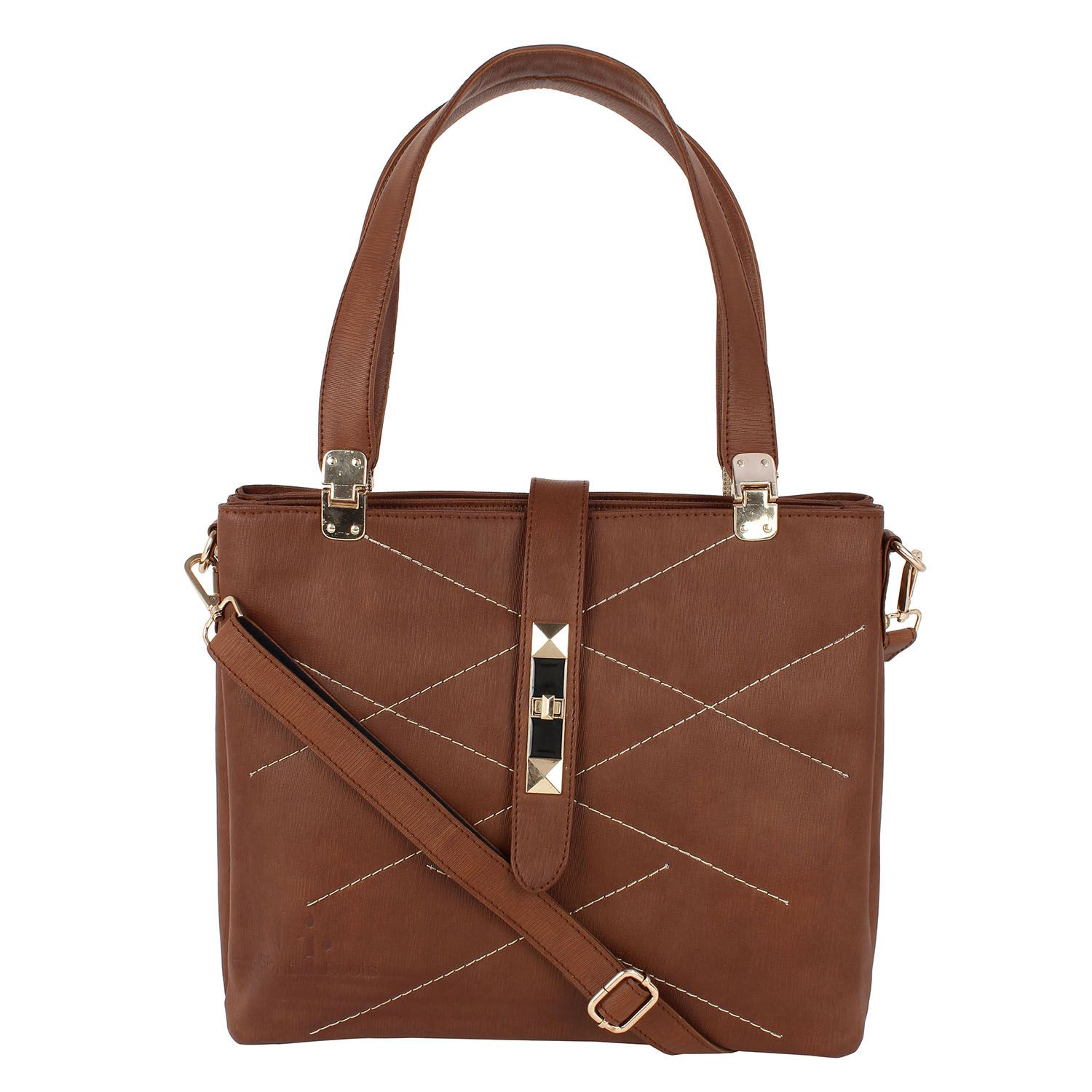 Giant Roots Brown Faux Leather Shoulder Bag
