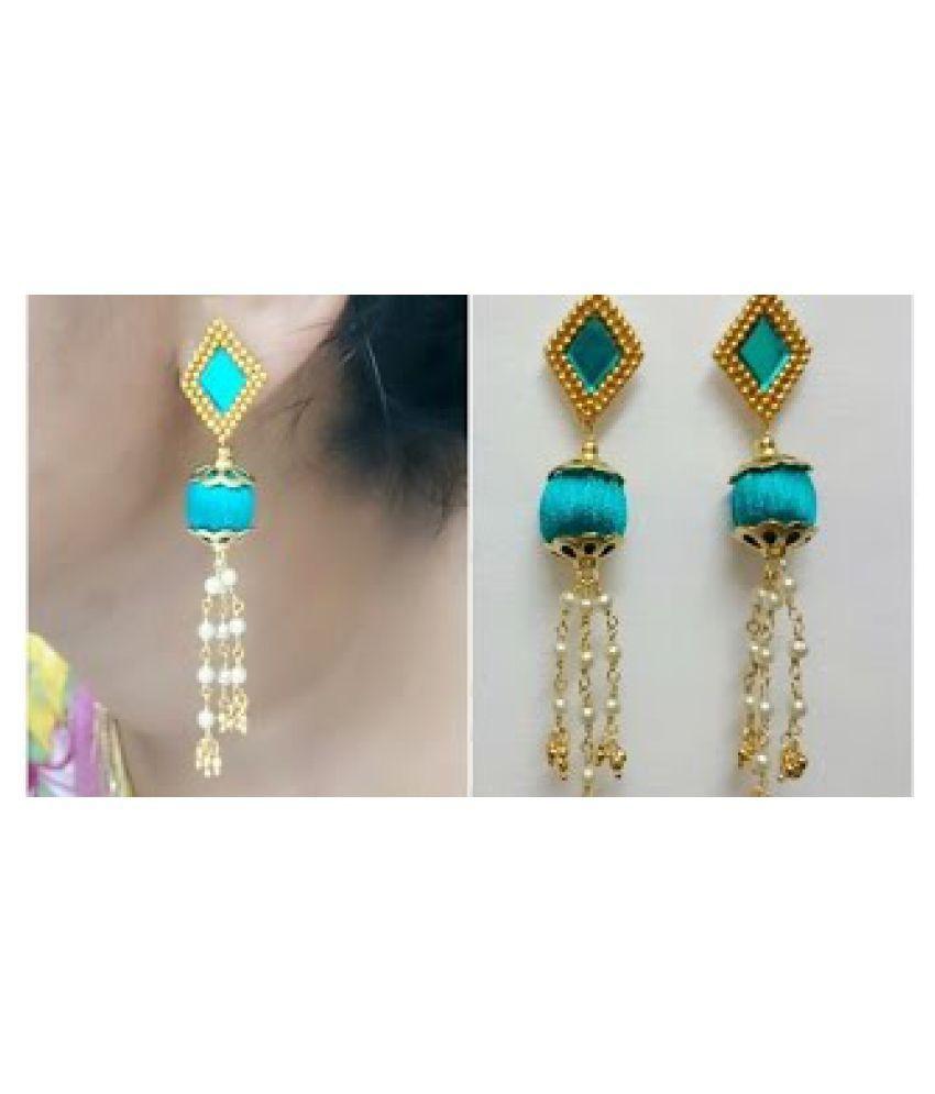 Silk Thread Earring For Girls