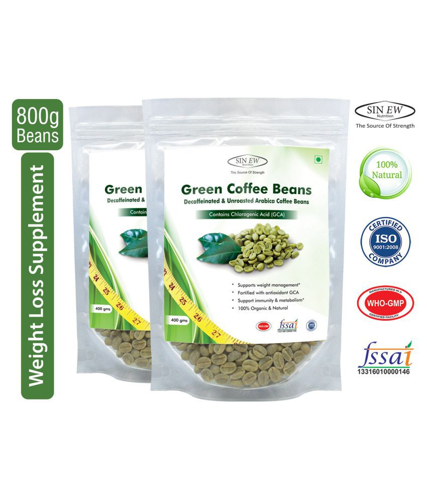Sinew Nutrition Green Coffee Beans for Weight Management Capsule 400 gm, Pack of 2 (800gm)
