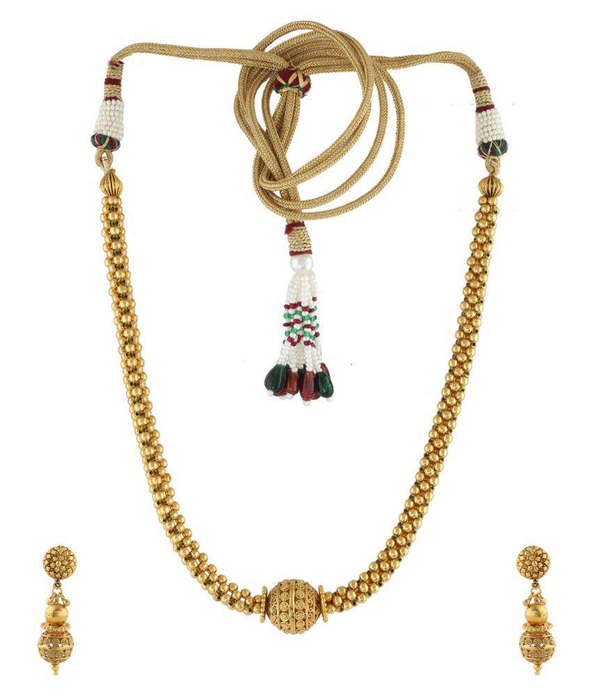 Anuradha Art Golden Finish Wonderful Designer Traditional Thushi Necklace for Women