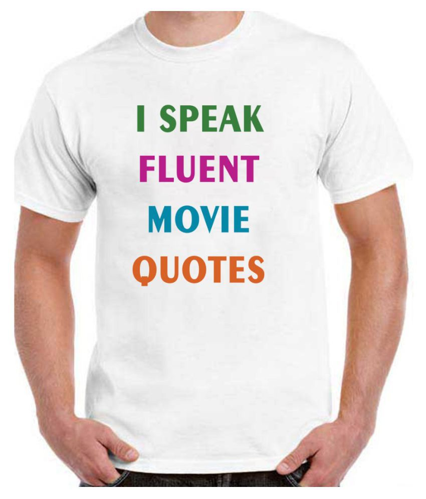 RITZEES White Dry-Fit Polyester Tshirt on Random Quotes