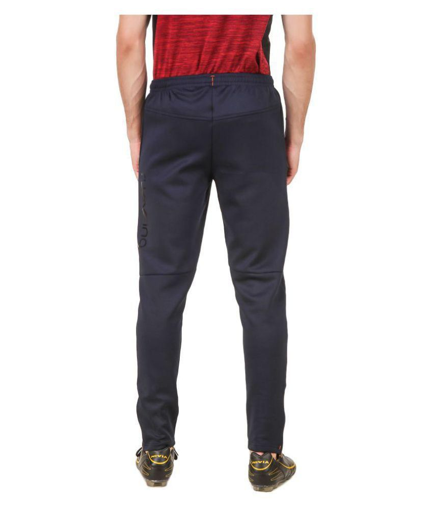 Nivia Black Polyester Trackpants-2249L2