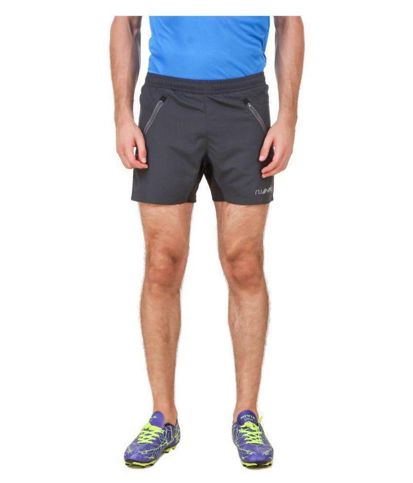 Nivia Black Polyester Running Shorts-2311M-1