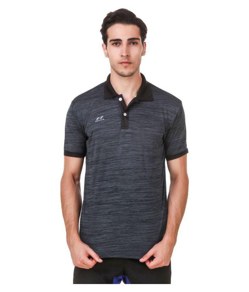 Nivia Grey Polyester T-Shirt-2245XL-3