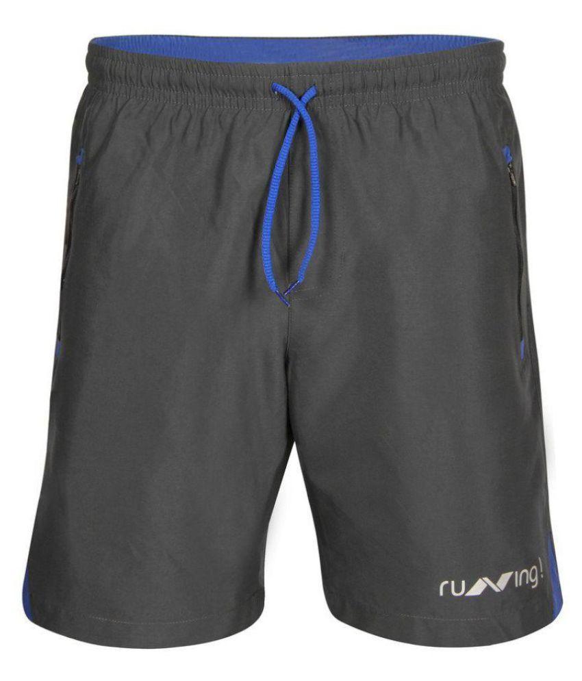 Nivia Grey Running Shorts-n2037xl7