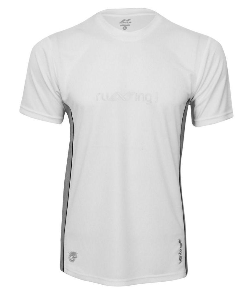 Nivia Oxy -2 Fitness Tee White-2216-l6