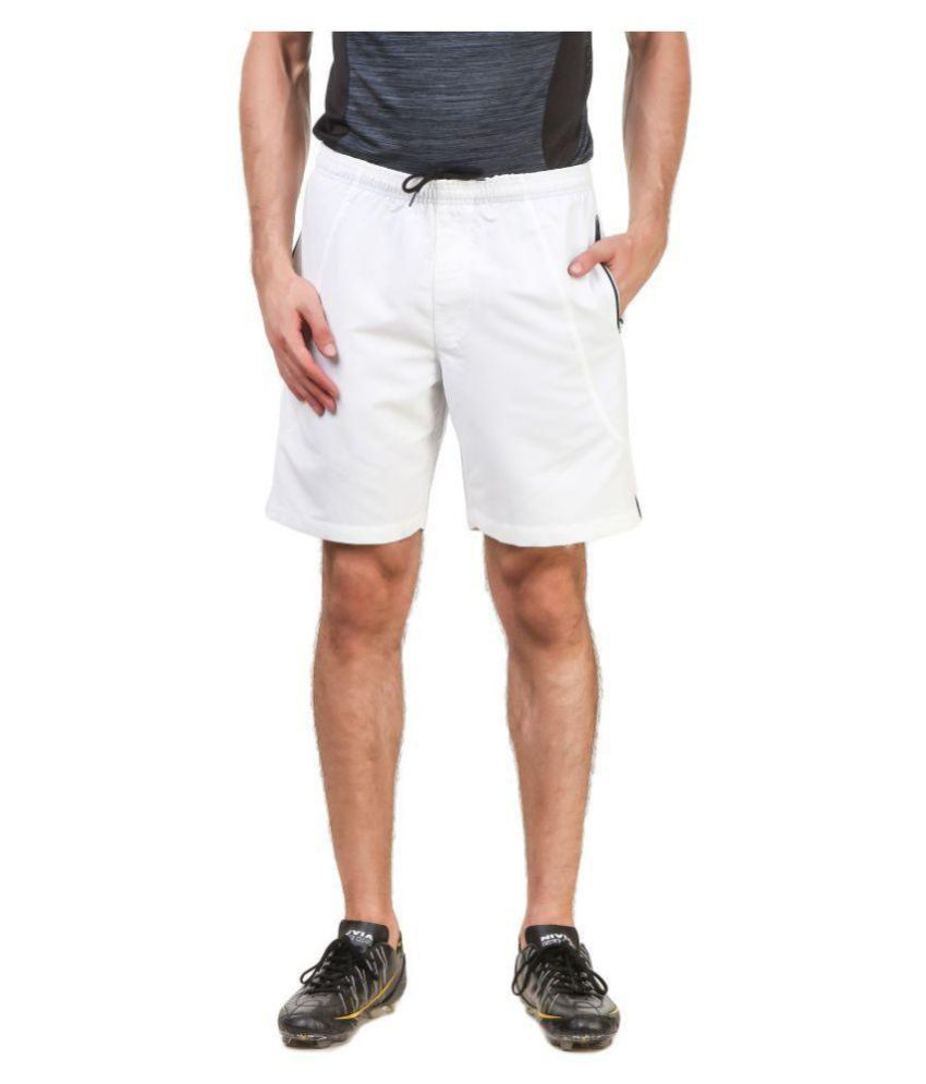 Nivia White Polyester Running Shorts-2310S-2